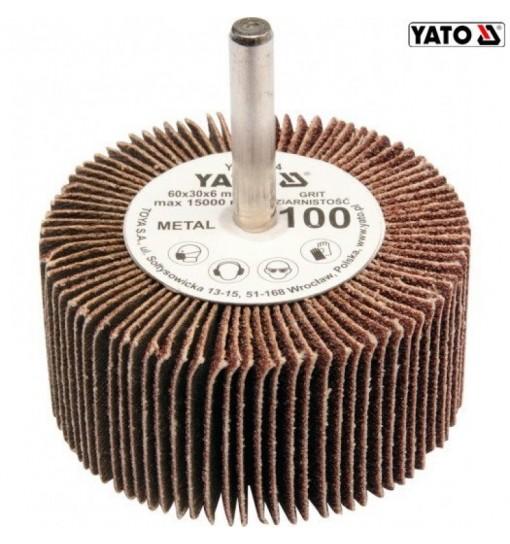 Perie Abraziva Circulara cu Tija 60X30X6MM, granulatie 80