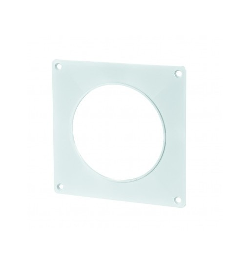 VENTS Placa fixare perete, PVC, diam 150mm