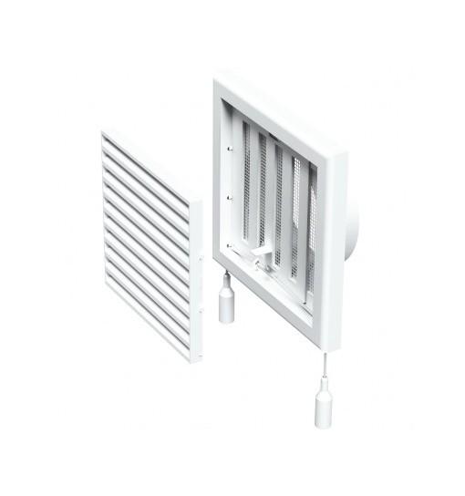VENTS Grila ventilatie cu inchidere manuala diam 100mm, 154*154mm