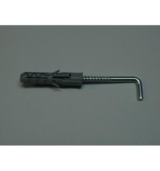 Surub de ancorare/deblocare cadru cu carlig si diblu PX10 10x50