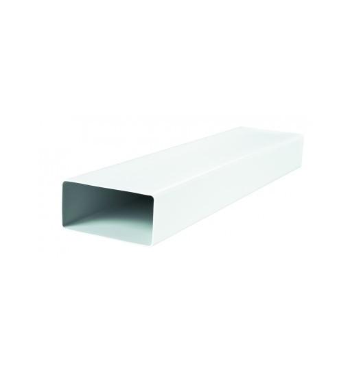 VENTS Tub rigid rectangular PVC 60X120 mm L 1000 mm