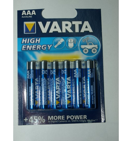 Set 6 baterii Varta High Energy AAA/R3 alkaline