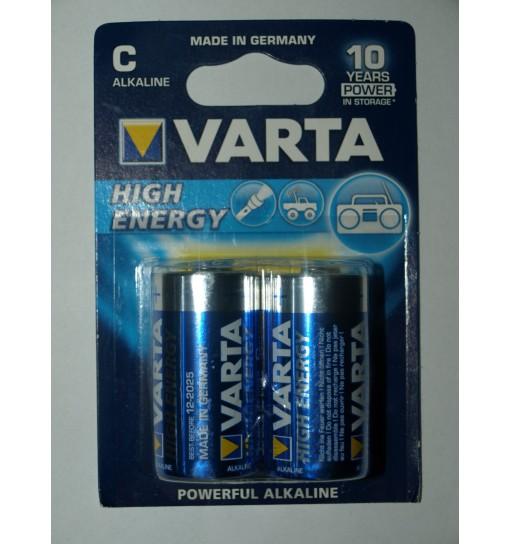 Set 2 baterii High Energy C/R14  alkaline