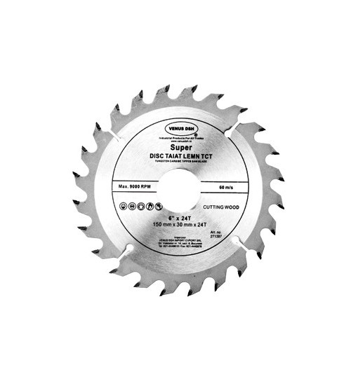 Disc taiat lemn TCT Super, pentru fierastrau circular 271403