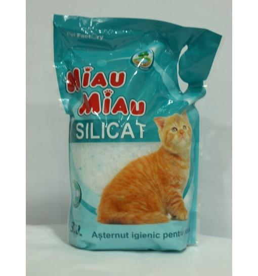 Asternut igienic pentru pisica Miau Miau silicat 3L